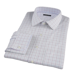 Thomas Mason Brown Multi Check Fitted Dress Shirt