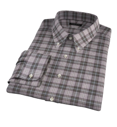 Jackson Olive Tartan Flannel Custom Dress Shirt