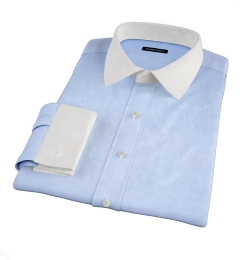 Thomas Mason Light Blue Wrinkle-Resistant Twill Tailor Made Shirt