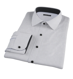 Canclini Grey Multi Grid Dress Shirt