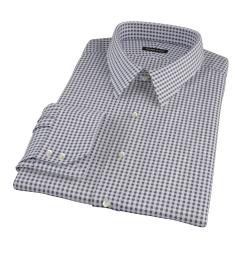 Black Medium Gingham Tailor Made Shirt