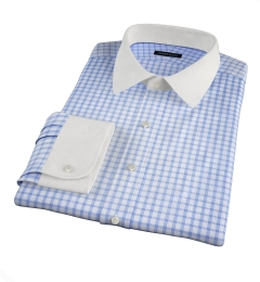 Essex Light Blue Multi Check Fitted Shirt