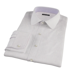 140s Lavender Fine Stripe Fitted Dress Shirt