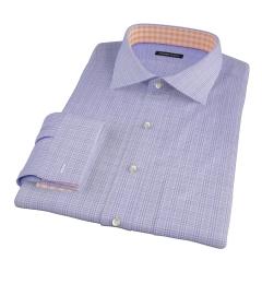 Thomas Mason Lavender Glen Plaid Fitted Shirt
