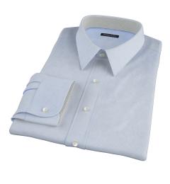 Morris Light Blue Wrinkle-Resistant Houndstooth Tailor Made Shirt