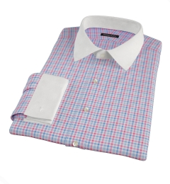 Thomas Mason Hibiscus and Blue Check Tailor Made Shirt