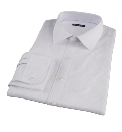Lavender Micro Grid Fitted Dress Shirt