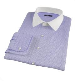 Thomas Mason Lavender Glen Plaid Custom Made Shirt