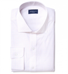 Red Blue Morton Grid Tailor Made Shirt