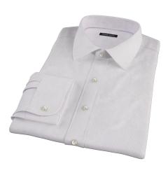 Purple Fine Stripe Fitted Shirt