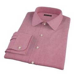 Red Heavy Oxford Cloth Dress Shirt