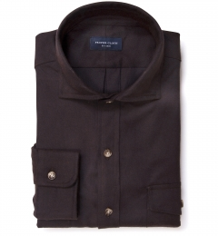 Teton Dark Brown Flannel Custom Made Shirt