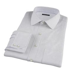 Brown Blue Morton Grid Men's Dress Shirt