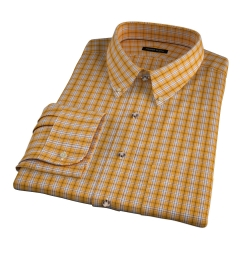 Maize 120s Check Custom Dress Shirt