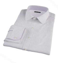 Albini Lavender Satin Stripe Custom Made Shirt