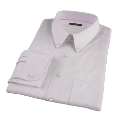 Thomas Mason Lavender Pinpoint Fitted Shirt