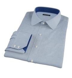 Canclini Blue Herringbone Custom Made Shirt