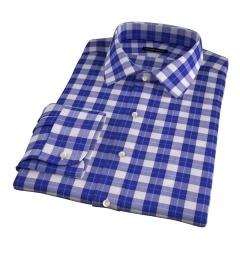Violet Plaid Flannel Custom Dress Shirt