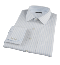 Canclini Light Blue Awning Stripe Tailor Made Shirt