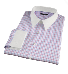 Thomas Mason Crimson Multi Check Men's Dress Shirt