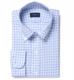 Canclini Sky Gingham Lightweight Flannel Tailor Made Shirt