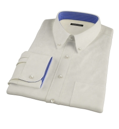 Bowery Yellow Wrinkle-Resistant Pinpoint Custom Made Shirt