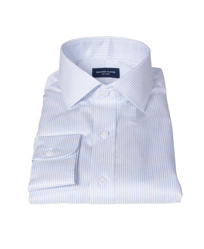 Morton Wrinkle-Resistant Royal Blue Stripe Men's Dress Shirt