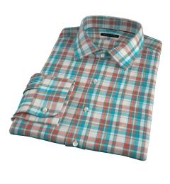 Dorado Aqua Plaid Men's Dress Shirt