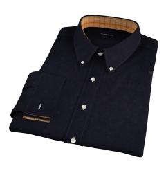 Black 100s Twill Fitted Dress Shirt
