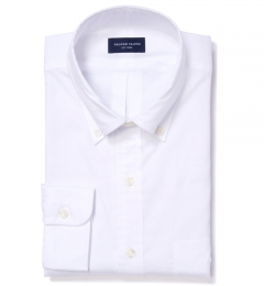 Albini White Oxford Chambray Men's Dress Shirt