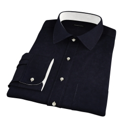 Mercer Black Broadcloth Fitted Shirt