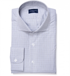 Jones 120s Grey Multi Check Custom Dress Shirt