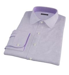 Lilac Heavy Oxford Cloth Custom Dress Shirt