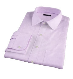 Lilac Heavy Oxford Fitted Shirt