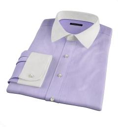 Genova 100s Lilac End-on-End Custom Made Shirt