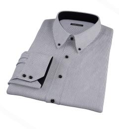 Carmine Black Pencil Stripe Custom Dress Shirt