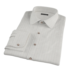 Lavender Grey Dobby Stripe Tailor Made Shirt