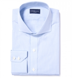 Canclini 120s Light Blue Fine Grid Custom Made Shirt