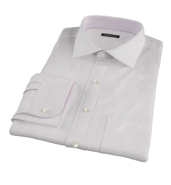 140s Lavender Fine Stripe Dress Shirt