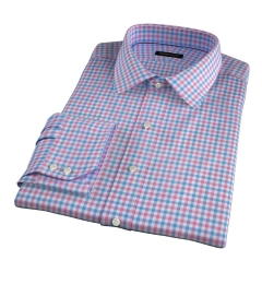 Thomas Mason Hibiscus Multi Check Tailor Made Shirt
