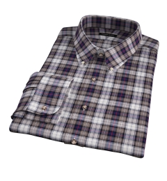 Jackson Brown and Navy Plaid Flannel Tailor Made Shirt