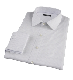 Red Blue Morton Grid Fitted Shirt