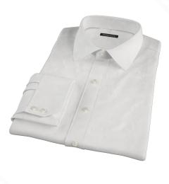 White Cavalry Twill Herringbone Men's Dress Shirt