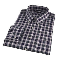 Japanese Green Donegal Tartan Fitted Shirt