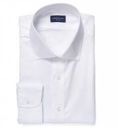 Franklin White Wrinkle-Resistant Lightweight Twill Men's Dress Shirt