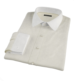 Bowery Yellow Pinpoint Fitted Shirt