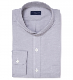 Canclini Grey Donegal Flannel Dress Shirt