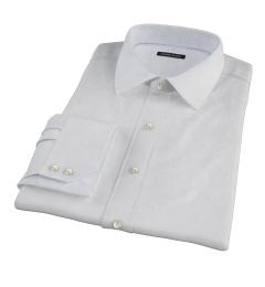 Light Blue Micro Grid Custom Dress Shirt