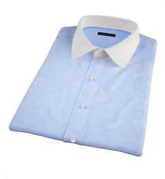 Thomas Mason Light Blue Pinpoint Short Sleeve Shirt