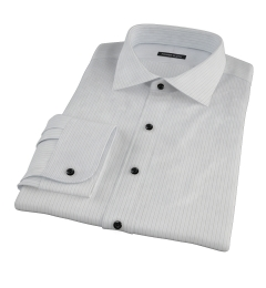 Lavender and Black Fine Satin Stripe Men's Dress Shirt